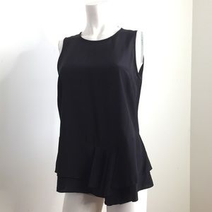 THAKOON Black Sleeveless Silk Top